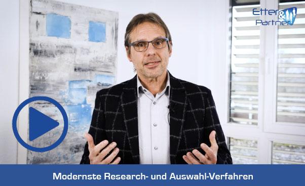 Clip: Modernste Research- und Auswahl-Verfahren bei Etter & Partner
